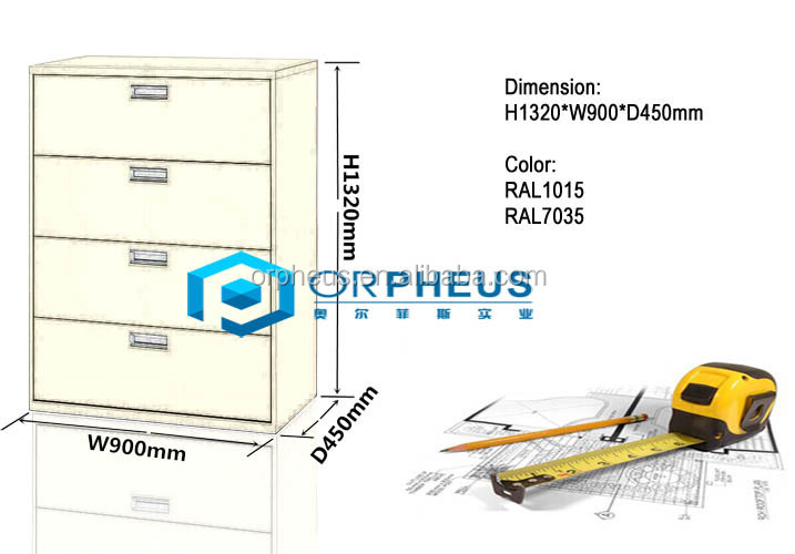 Very good Quality steel file cabinets furniture Lateral Office Furniture 4 drawer steel filing cabinet