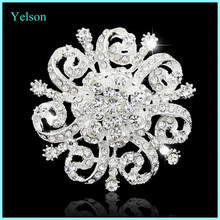 2016 Top quality rhinestones brooch jewelry fashion holiday brooches and pins silver for brooch bouquet