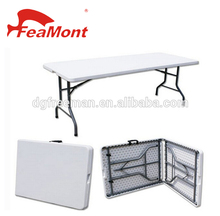 6ft fold in half plastic folding table