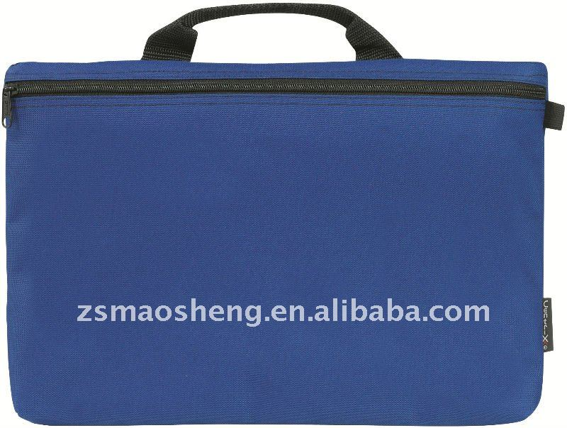 Blue carrying laptop case