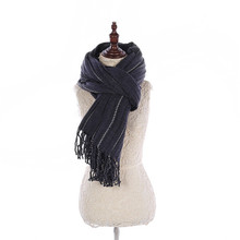 Competitive Price Most Popular Fringe Fashion War Solid Color Wool Knitted Acrylic Scarf