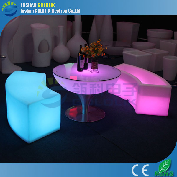 GLACS led music dancing furniture modern glowing led night club table/sale commercial outdoor table