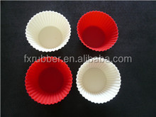 100%silicone food grade silicone two color cake cups