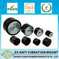Cylindrical natural rubber buffer wiht high performance