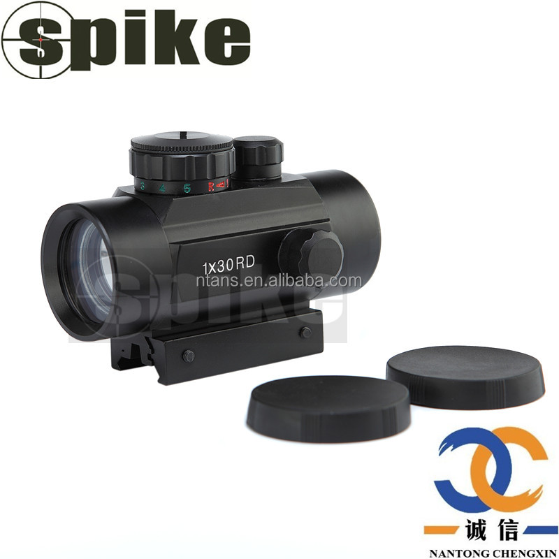 4-Inch 1X30 Red/Green Dot Sight with Integral Picatinny Mounting Deck/interchangeable for rail size 11mm or 22mm