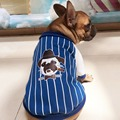 Bulldogs stripe hoodies dog clothes