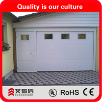 Simple design wood color sectional garage door