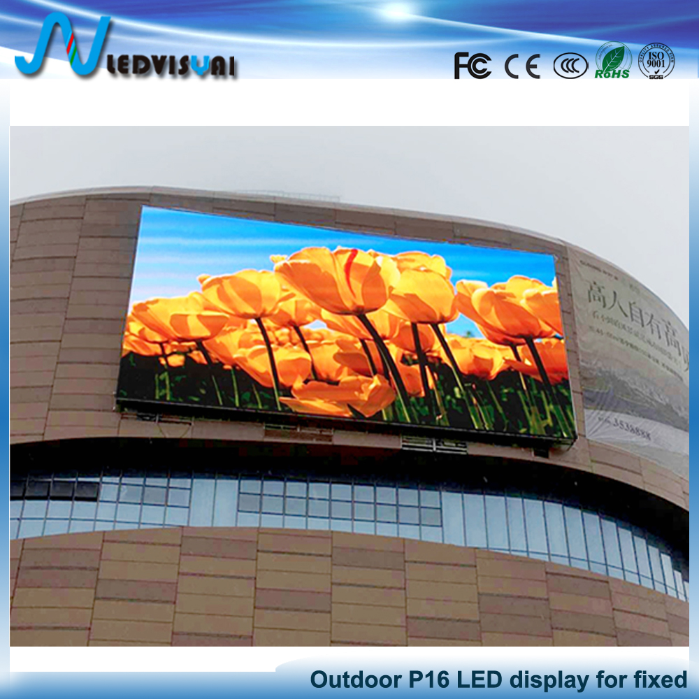 High resolution and brightness P16 full color Outdoor DIP LED display screen