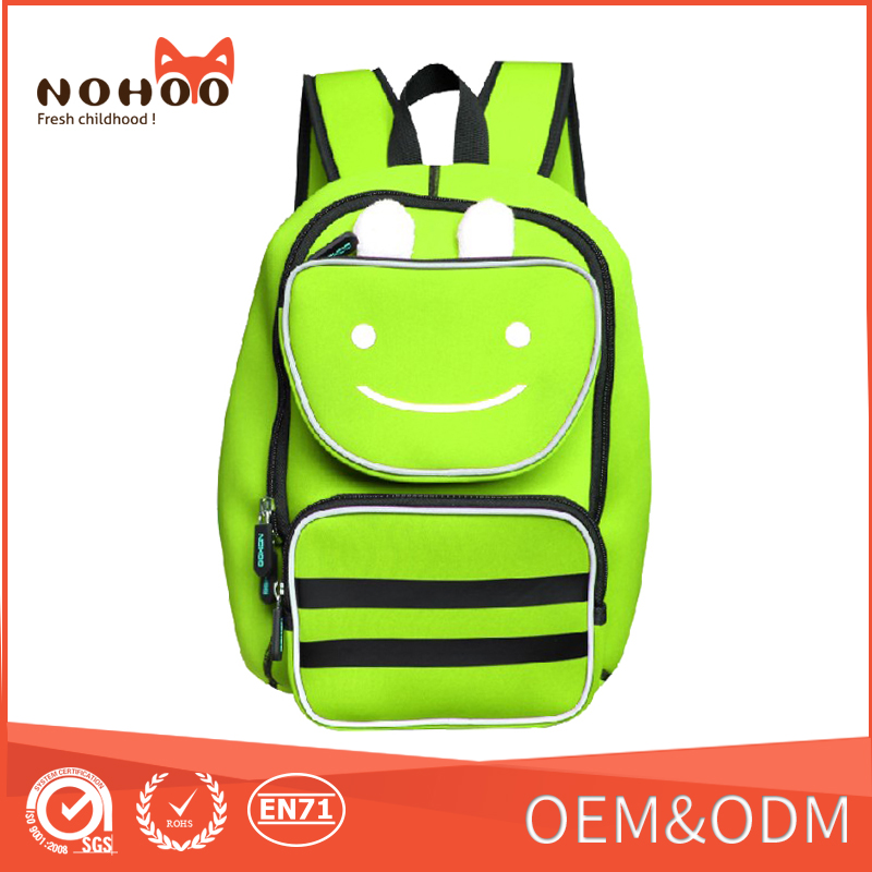 2016China supplier Luminous Backpacks Children Waterproof Lightweight School Backpack Bags Kids Baby Cute Smile Face Toddle Bags