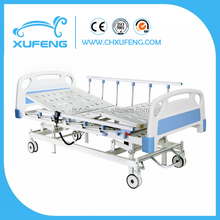 hot sale electric medical bed with three function/electric massage bed with central brake