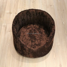 Hot selling customized memory foam pet luxury round dog bed