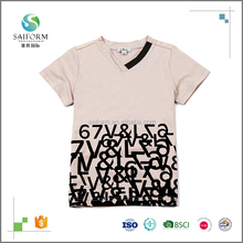Custom brand simple style printing 100% cotton extra large size kids t-shirts for wholesale