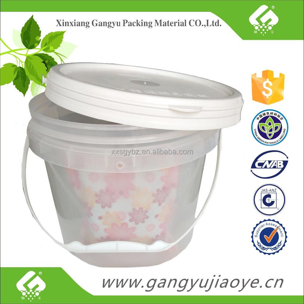 1 Gallon 4l Food Grade Clear Bucket Buy 1 Gallon Bucket