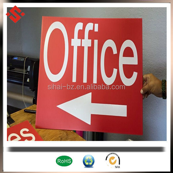 corflute printing prodcuts for sign and advertising use pp corrugated 4x8 sheet