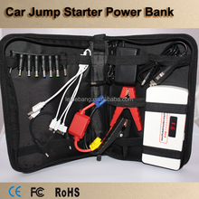 Car Emergency Power bank,Multi-function high capacity 12V car jump starter power bank with led light