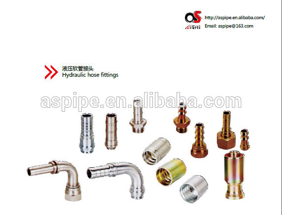hydraulic hose fittings / stainless steel braided hose fittings.