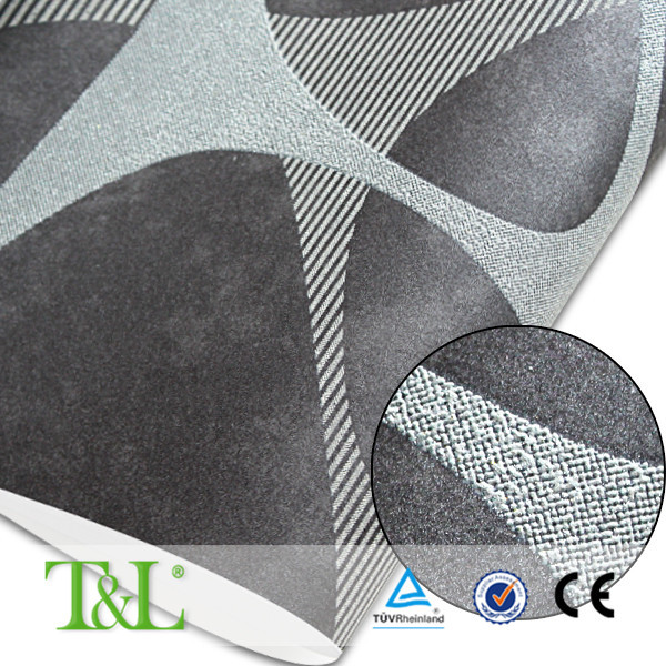 Sound-absorbing wallpaper grey foam wallpaper import