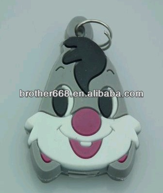 Custom rabbit 3d soft pvc key cap / 3d soft pvc key cover/ soft pvc custom key head cover