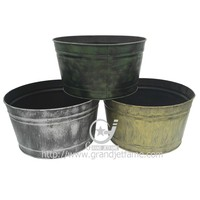 Metal large flower pot garden decorative large flower pots