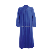 Easy Care 100% Matte Finish Customized Royal Blue Graduation Gown
