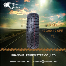 CHINA FEIBEN BRAND 130/90-10 TUBELESS SCOOTER TIRE CX641