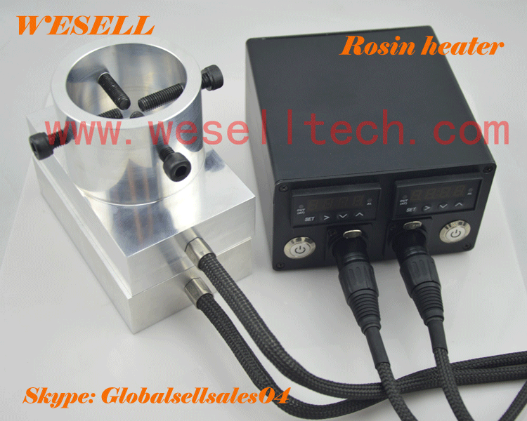 2016 newest dual enail with rosin plate heater, enail dab heater kit
