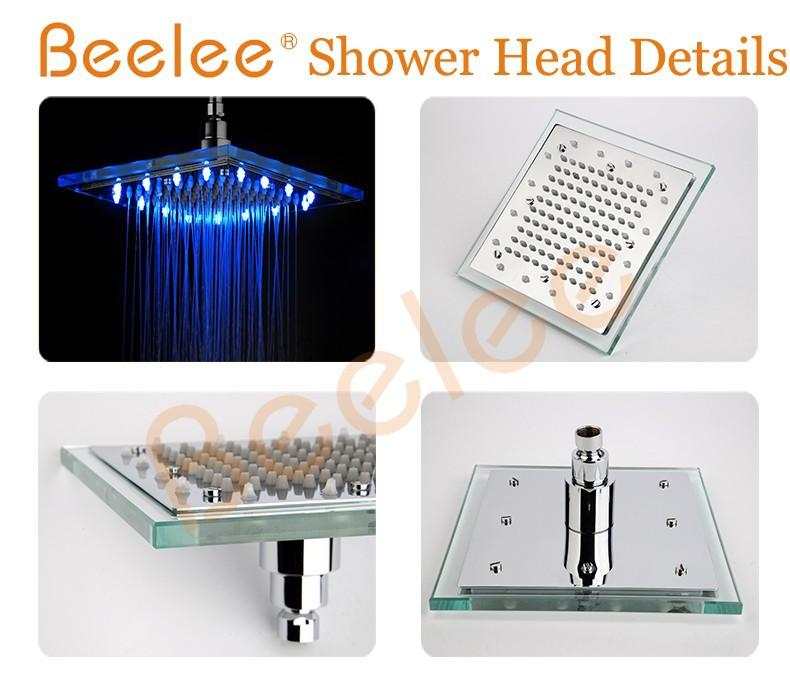 Ahorro de agua 3 color led luz lluvia ba o ducha for Ducha lluvia precio