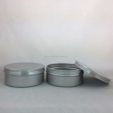 aluminum round metal tin box