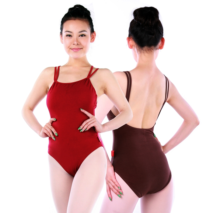 CL00381 New Adult balera dancewear Leotard Women Camisole Two Straps Mid Back dance wear China