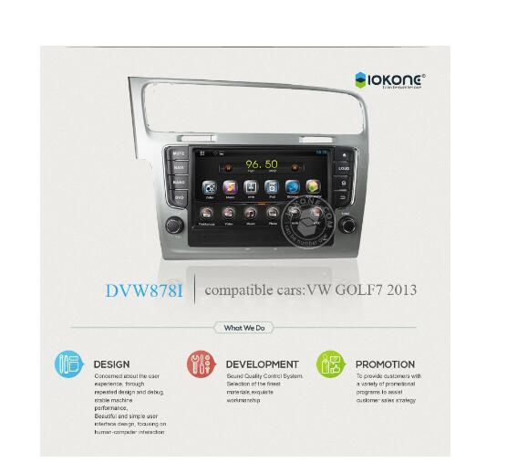 Touch screen car radio gps for Volkswagen Golf 7 With Bluetooth GPS navigation system
