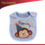 Great baby shower gift dog design cotton wholesale custom baby bibs