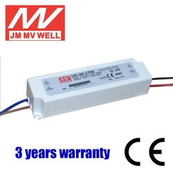 60W waterproof IP67 constant current led driver 1050ma CCC UL RoHS