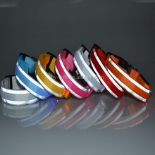 fluorescent dog collar 7 colors double sided reflective pet collar