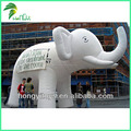 Promotion Inflatable Animals , Giant White Inflatable Elephant For Advertising
