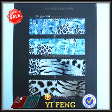 high grade soft leopard pu leather for shoes