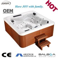 Hydro air jets massage bathtub with led underwater lighting