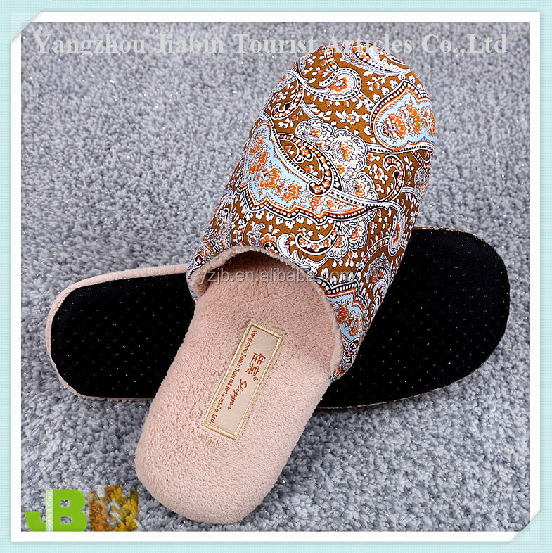 Manufacturer Hotel Rooms Fancy Custom Logo Washable Disposable Slippers