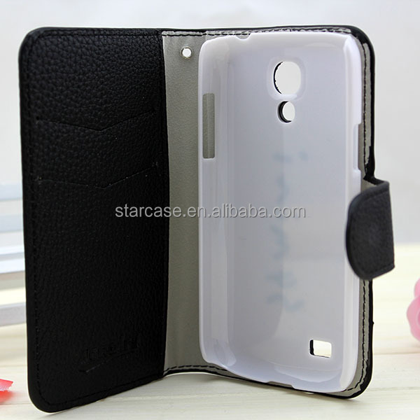 faux leather mobile phone case for samsung s4mini i9190 with two card holders