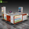 Popular style mobile phone accessories display counter,fix phone service station mall kiosk