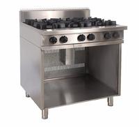 5 Star Hotel kitchen equipment supply 6 burners gas cooker range for sale