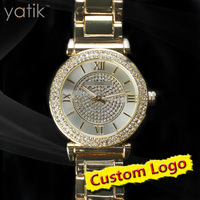 New Petite Camille Gold-Tone MK Watch diamond brand watches lady accessory MK4292