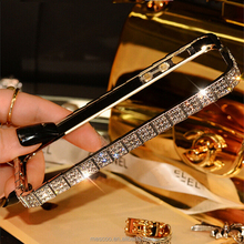 New style Top quality Luxury Bling Snake Diamond Inlay Metal Rhinestone fashional phone case for iPhone 5 5s SE