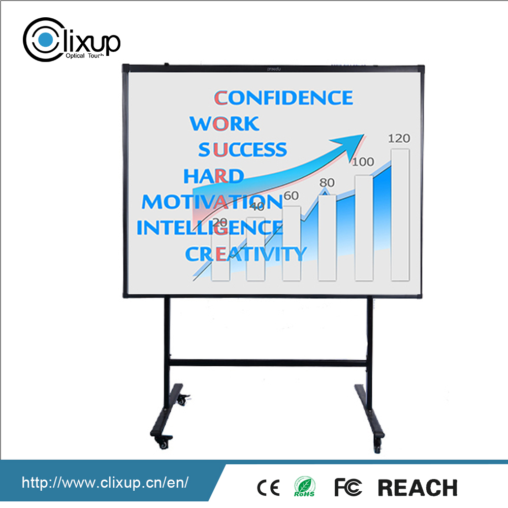 Classroom use mobile stand touch interactive whiteboard