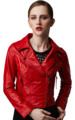 Fashion Women Sexy Jackets Cheap Price Ladies Short Lamb Skin Leather Jacket
