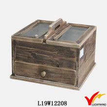 distressed antique wine wooden box