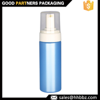 glossy blue 200ml 150ml 100ml plastic foam dispenser bottle
