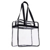 Heavy-duty custom tote clear pvc handbag with zipper closure