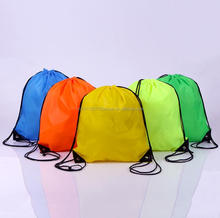 Personalized custom logo Fashion Canvas Cotton Drawstring Bag 210T polyester promotional bags