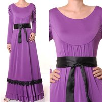 Muslim Islamic Long Sleeves Abaya Dress