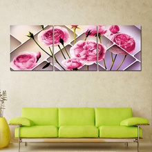 3 Piece Canvas Art Apple Blossom Picture On The Wall Canvas PaintingFor Livig Room